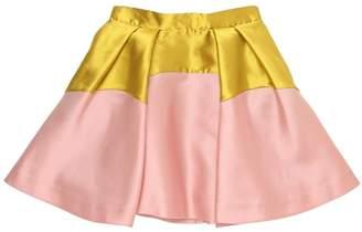 Blend of America Two Tone Silk Mikado Skirt