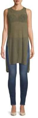 BCBGMAXAZRIA Jocelyn Cotton High-Low Tunic Sweater