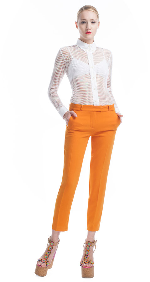Moschino Cheap & Chic Cropped Crepe Trousers
