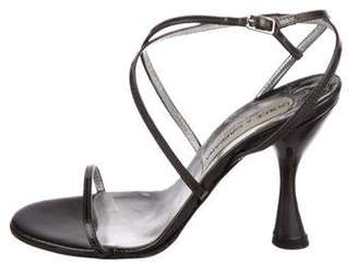 Dolce & Gabbana Patent Leather Ankle Strap Sandals