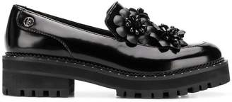 Liu Jo flower appliqué loafers