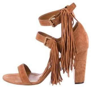 Chloé Suede Fringe Sandals