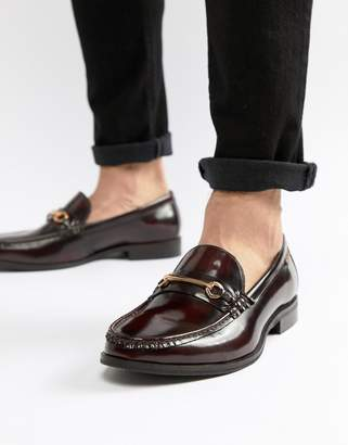Ben Sherman Luca Loafers In Bordo Leather