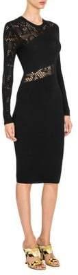 Versace Mesh Cut Out Sheath Dress