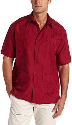 Cubavera Men's Short Sleeve Embroide Guayabera Shirt