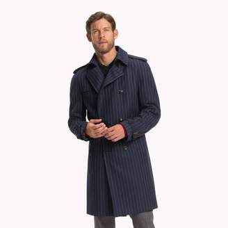Tommy Hilfiger Virgin Wool Double-Breasted Top Coat