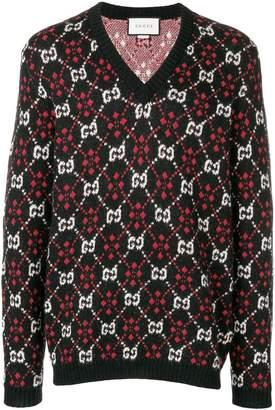 Gucci logo pattern jumper