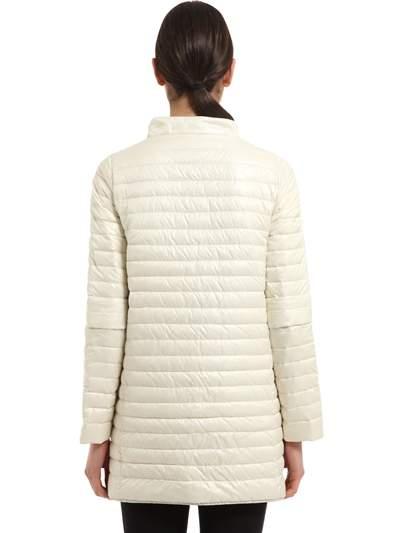 Duvetica Eledhwen Quilted Nylon Long Down Jacket