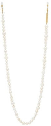 Frame Chain - Pearly Queen Pearl And Gold Plated Glasses Chain - Womens - White Multi