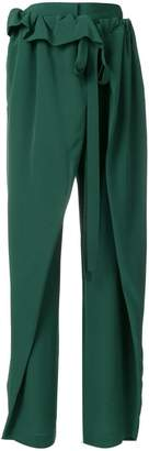 Stella McCartney ruffle trim trousers