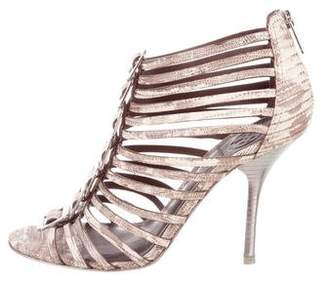 Tory Burch Embossed Cage Sandals