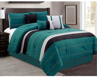Luxlen Hunnicutt 7 Piece Comforter Set, Cal King Bedding