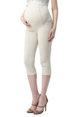 Kimi and Kai Melody Capri Denim Maternity Leggings