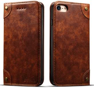 INFLATION Leather Wallet iPhone 7plus, Case Flip Protective Card Holder