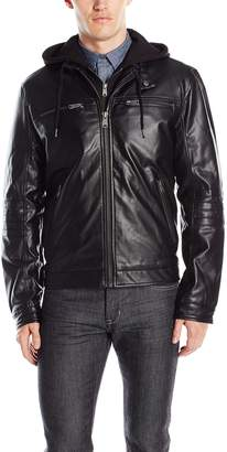 Lucky Brand Men's Archibald Faux Leather Moto Jacket