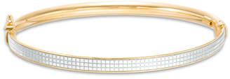 Zales Made in Italy PavA Glitter Enamel Bangle in 14K Gold