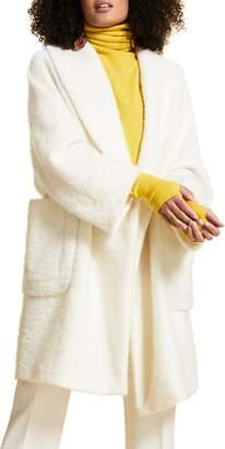 Marina Rinaldi Terzetto Wool & Mohair Blend Boucle Coat