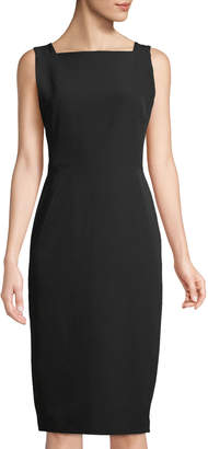 Maggy London Square-Neck Sheath Dress