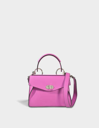 Proenza Schouler Small Hava Top Handle Bag in Berry Lindos Leather