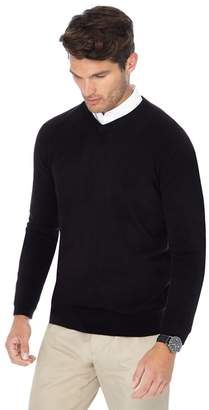The Collection - Big And Tall Black V-Neck Jumper