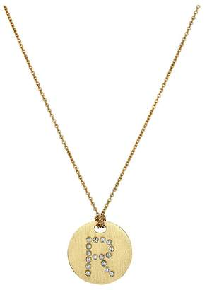 Roberto Coin Tiny Treasures 18K Yellow Gold Initial R Pendant Necklace Necklace