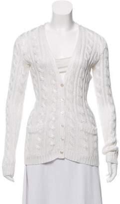 Ralph Lauren Black Label Cable Knit Button-Up Cardigan