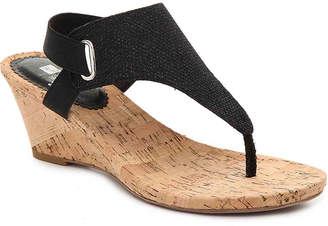 07f8476f352e White Mountain Black Wedge Women s Sandals - ShopStyle