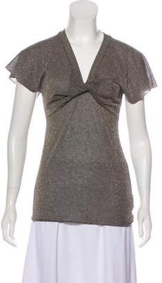 Emporio Armani Metallic Short Sleeve Top