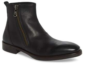 John Varvatos Star USA Mid Angled Zip Boot