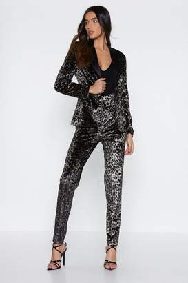 Nasty Gal Leader of the Pack Leopard Blazer
