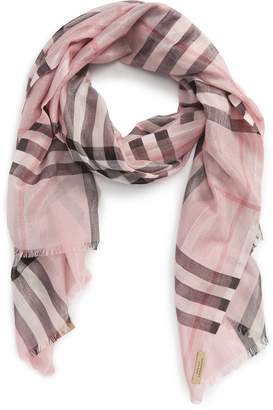 Burberry Metallic Giant Check Scarf