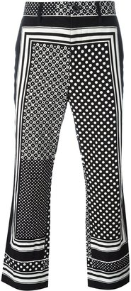 Sacai scarf print trousers $651.84 thestylecure.com
