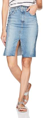 AG Adriano Goldschmied Women's The Emery Jean Skirt-Repurposed