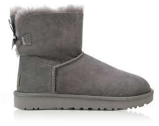 UGG Grey Mini Bailey Bow Boots