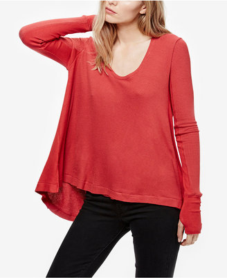 Free People Malibu High-Low Thermal Top $68 thestylecure.com