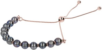 Bronzo Italia Cultured Freshwater Pearl Adjustable Bracelet