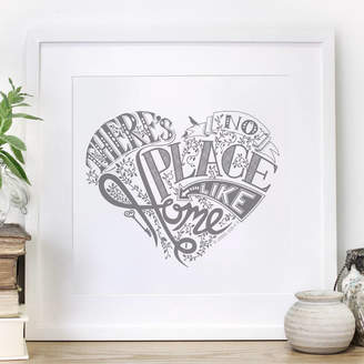 Chatty Nora 'No Place Like Home' Wizard Of Oz Heart Print