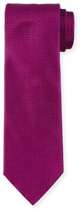 Boss Hugo Boss Solid Geo-Print Silk Tie, Purple $95 thestylecure.com