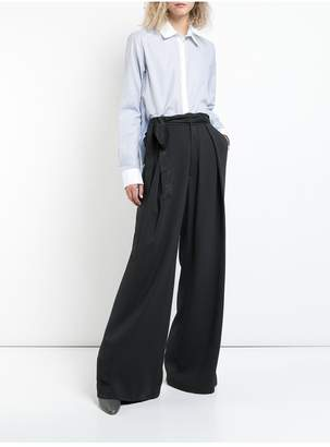 ADAM by Adam Lippes Stretch Crepe Trouser With Inverted Pleats