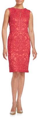 Tadashi Shoji Embroidered Sheath Dress $419 thestylecure.com