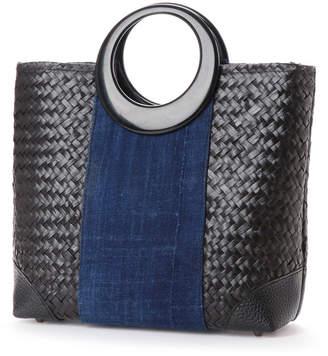 Kan-Kan カンカン KANKAN シーグラス×藍布丸ハンドルバッグ