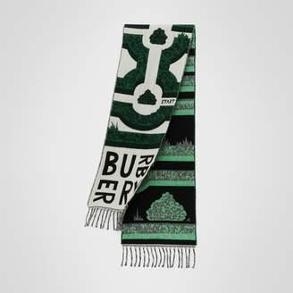 Burberry (バーバリー) - Burberry ヘッジメイズ ウールカシミア ジャカードスカーフ