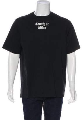 Marcelo Burlon County of Milan Flag Appliqué T-Shirt w/ Tags
