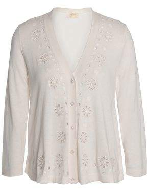 Kate Spade Spice Things Up Silk Cotton And Cashmere-Blend Cardigan