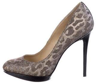 Brian Atwood Sequin High Heel Pumps