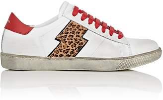 Amiri Women's Viper Leather & Calf Hair Sneakers