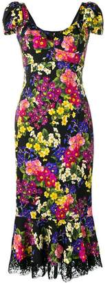 Dolce & Gabbana floral fishtail dress