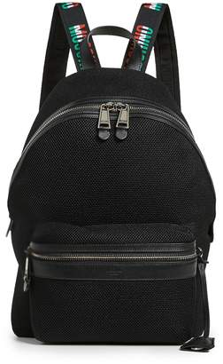 Moschino Tricolor Logo Trim Backpack