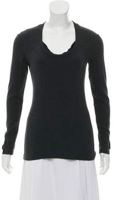 Brunello Cucinelli Silk-Trimmed Crew Neck Top
