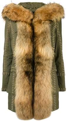 Philipp Plein fur trimmed coat